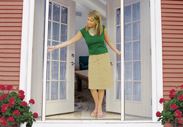 Retractable French Door Screen